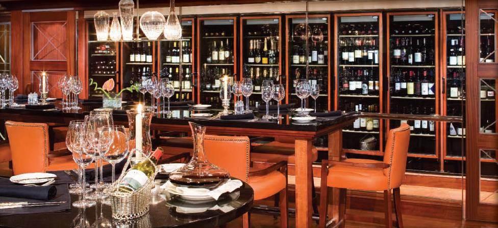 AZAMARA CRUISES WINE CELLAR RESTAURANT