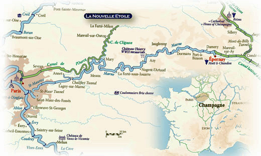 CRUCEROS CHAMPAGNE FRANCE RIO MARNE RIVER LA NOUVELLE ETOILE HOTEL BARGE CRUISES CHAMPAGNE LUXURY CRUISES CANAL CRUCEROS DE LUJO CANALES FRANCIA