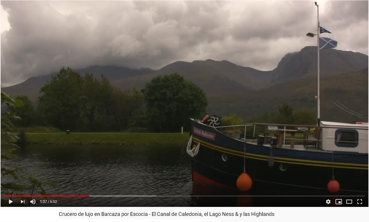 VIDEO SCOTTISH HIGHLANDER HOTEL BARGE SCOTLAND CRUISES HIGHLAND CRUISES EUROPEAN WATERWAYS CRUCEROS BARCAZA EUROPEAN WATERWAYS #EuropeanWaterways #CruiseBarge #BargeCruises