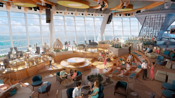 CRUCEROS QUANTUM OF THE SEAS ROYAL CARIBBEAN CRUCEROS CARIBE OFERTA DESDE NUEVA YORK NEW YORK CARIBBEAN CRUISES ROYAL CARIBBEAN TWO70 Lounge