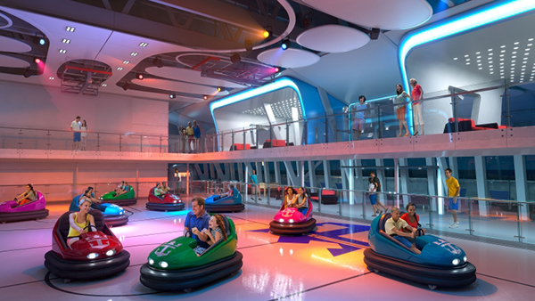 CRUCEROS QUANTUM OF THE SEAS ROYAL CARIBBEAN CRUCEROS CARIBE OFERTA DESDE NUEVA YORK NEW YORK CARIBBEAN CRUISES ROYAL CARIBBEAN COCHES DE CHOQUE BUMPING CARS