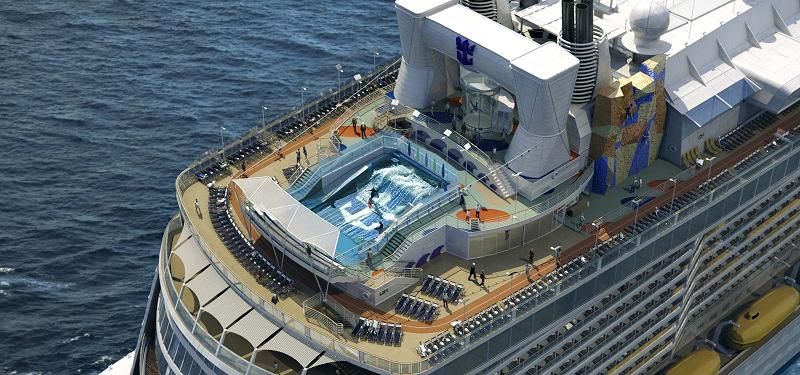 CRUCEROS QUANTUM OF THE SEAS ROYAL CARIBBEAN CRUCEROS CARIBE OFERTA DESDE NUEVA YORK NEW YORK CARIBBEAN CRUISES ROYAL CARIBBEAN FLOW RIDER SURF